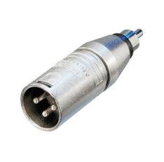 3-poliger XLR Kabelstecker – Cinch (RCA) Stecker